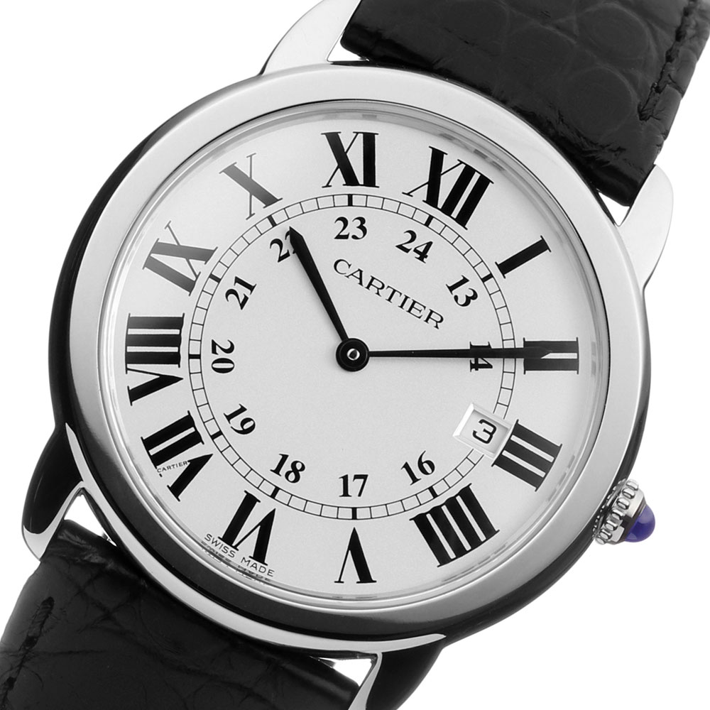 Cartier Ronde Solo De Cartier of white dial replica