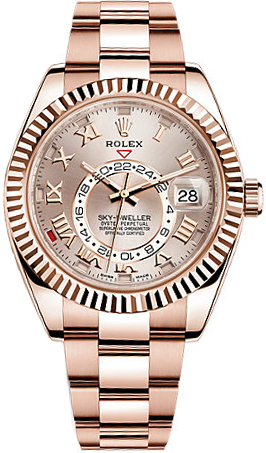 Rolex-Sky-Dweller-Everose-Gold-Copy