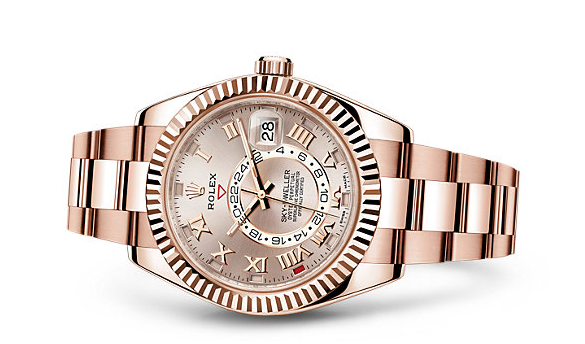 Rolex-Sky-Dweller-Everose-Gold-Fake