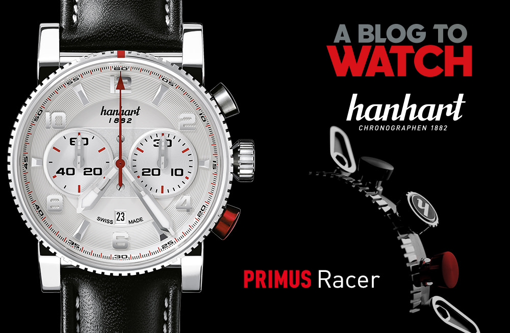 WATCH GIVEAWAY: Hanhart PRIMUS Racer Silver Steel Automatic Chronograph Watch Giveaways