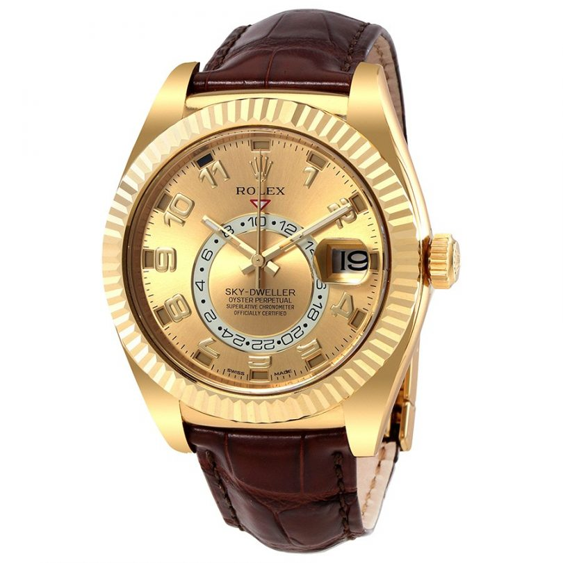 Rolex Sky Dweller Champagne Dial Men's Automatic Watch 326138CAL