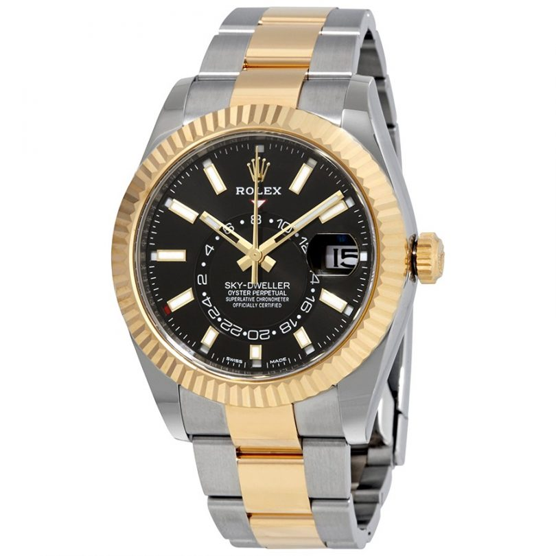 Rolex Sky-Dweller Automatic Men's 18kt Yellow Gold Oyster Watch 326933BKSO