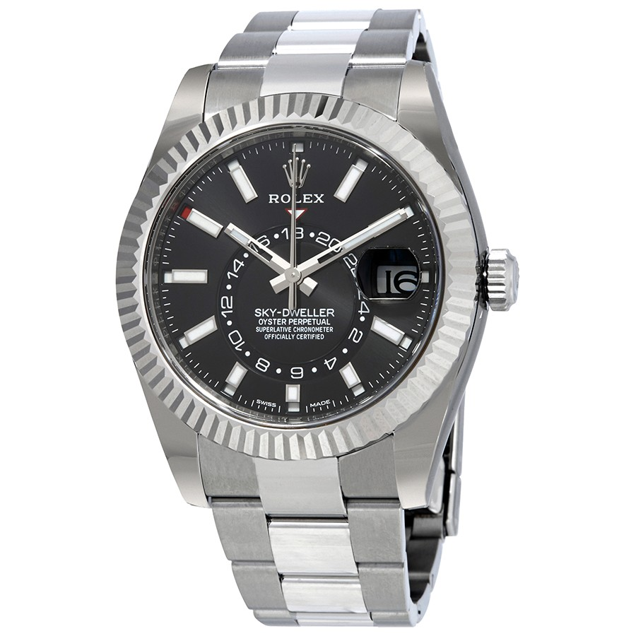 Rolex Sky-Dweller Black Dial Automatic Men's Oyster Watch 326934BKSO